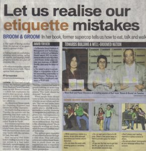 Let us realise our etiquette mistakes